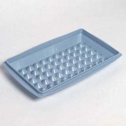 72 Units of Microwaveable Cooking Platter Blue - Microwave Items
