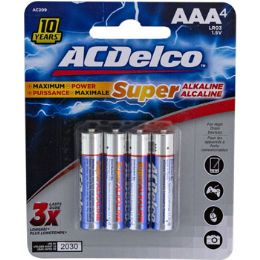 48 Units of Batteries Aaa 4pk Alkaline Ac Delco Carded - Batteries
