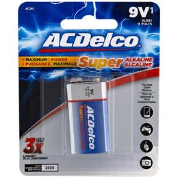48 Units of Battery 9 Volt Alkaline Ac Delco Carded - Batteries