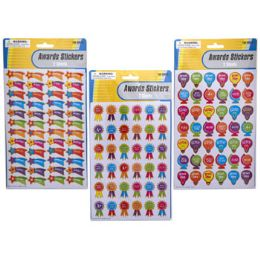 48 Units of Sticker Awards 2 Sheets/3ast Designs Pbinsert/12pc Mdstrip - Stickers