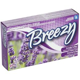 24 Units of Dryer Sheets 55ct Lavender Breezy - Laundry  Supplies