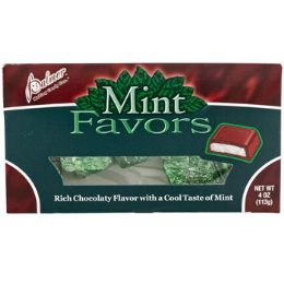 24 Units of Candy Mint Favors 4 Oz Box Choc Flavored Counter Display - Food & Beverage