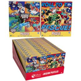24 Units of Puzzle 24pc Transformers Rescue 2 Titles In Pdq Size 10.3x9.1 - Puzzles