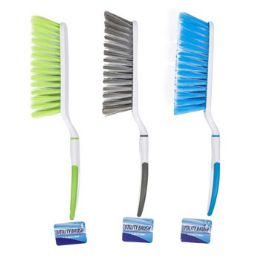 48 Units of Brush Handled 12.5in 3ast Color Utility Style Cleaning ht - Cleaning Supplies