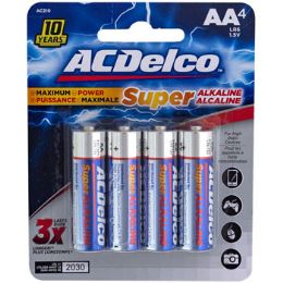 48 Units of Batteries Aa 4pk Alkaline Ac Delco Carded - Batteries