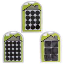 48 Units of Felt Floor Protectors 6/12/20pk SelF-Adhesive Square/round - Accessories