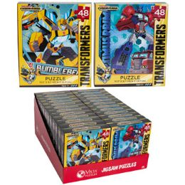 24 Units of Puzzle 48pc Transformers Cyber Verse 2 Titles In Pdq - Puzzles
