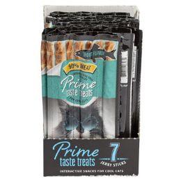 10 Units of Cat Treat 7pk Prime Taste Jerky Trout Flavor 35g In Counter Dspl - Pet Supplies