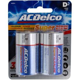 48 Units of Batteries D 2pk Alkaline Ac Delco Carded - Batteries