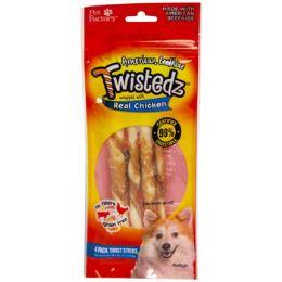24 Units of Dog Treats Chicken Meat Wrap 4pk 5 Inch Twist Sticks - Pet Supplies