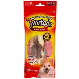 24 Units of Dog Treats Beef Meat Wrap 2pk 5in Twistedz Chip Rolls - Pet Supplies