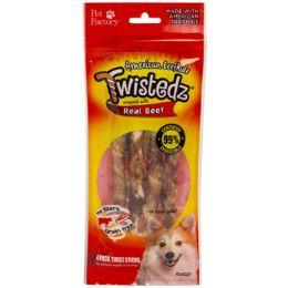24 Units of Dog Treats Beef Meat Wrap 4pk 5in Twistedz Sticks - Pet Supplies
