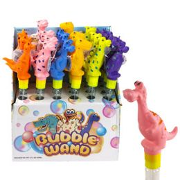 24 Units of Bubble Wand Dinosaur 13in 2 Oz. 6asst 24pc Pdq/ht - Toys & Games