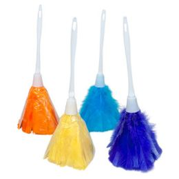 36 Units of Duster Feather Plastic Handle 4 Colors 14in Upc Label/slv - Cleaning Supplies