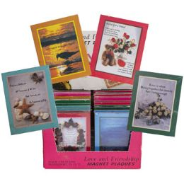 144 Units of Love/friendship Magnet Plaque In 24pc Counter Display - Refrigerator Magnets