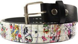 96 Units of Studded Belt Printed - Womens Belts