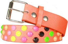 96 Units of Studded Belt Rainbow - Womens Belts