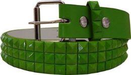60 Units of Green Studded Belt - Womens Belts