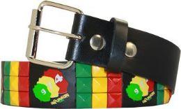 96 Units of Multicolor Punk Studded Belt - Womens Belts