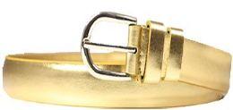24 Units of Women's Belts Ladies Fashion Skinny Soft Dress Casual In Gold - Womens Belts