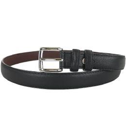 24 Units of Plain Black 1 Inch Width Women Belt Assorted Sizes - Womens Belts