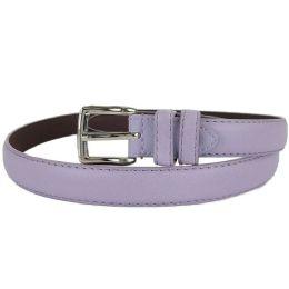 24 Units of Plain Purple 1 Inch Width Women Belt Assorted Sizes - Womens Belts