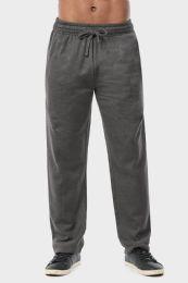 24 Units of Men's Mediumweight Fleece Sweatpants In Charcoal Size L - Mens Sweatpants