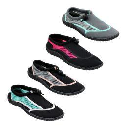 48 Units of Women's Aqua Sock - Women's Aqua Socks