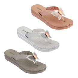 30 Units of Women's Butterfly Thong Sandals Assorted - Women's Flip Flops