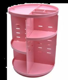 12 Units of Pink 360 Rotating Makeup Organizer - Cosmetic Cases