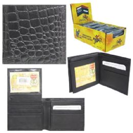 24 Units of Mens Pebbled Fashion Wallet - Leather Wallets