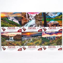 6 Units of Puzzle 550pc Postcard Collection 6 Titles Size 24x18 - Puzzles