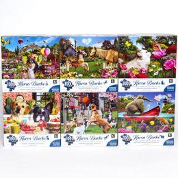6 Units of Puzzle 1000pc Karen Burke 6 Titles Size 27x20 - Puzzles
