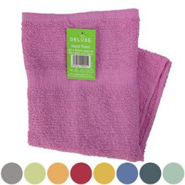 72 Units of Hand Towel 35x19.5 Deluxe Assorted Colors See n2 - Kitchen Towels