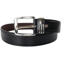 48 Units of Men's Fashion Black Belt - Mens Belts