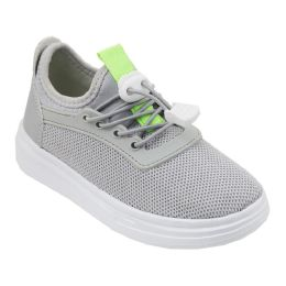 12 Units of Boy's Sneakers Casual Sports Shoes in Gray - Boys Sneakers