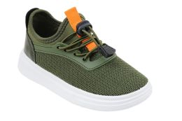 12 Units of Boy's Sneakers Casual Sports Shoes in Olive - Boys Sneakers