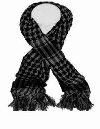 72 Units of Palestine Scarves In Gray And Black - Womens Fashion Scarves