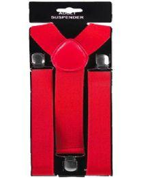 48 Units of Adult Red Suspender - Suspenders