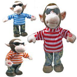 12 Units of Battery Operated Dancing Monkey - Plush Toys