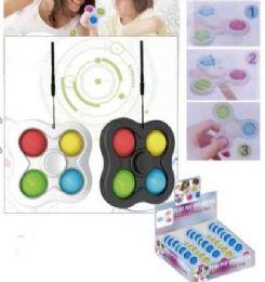 24 Units of Four Corner Push Pop Spinner Fidget Toy Medium Size - Fidget Spinners
