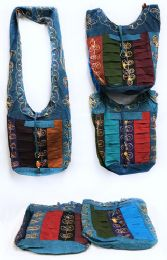 10 Units of Nepal Hobo Bags with Flower Embroidery Assorted Colors - Shoulder Bags & Messenger Bags