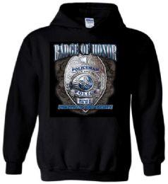 6 Units of Black Color Hoody BADGE OF HONOR Plus Size - Mens Sweat Shirt