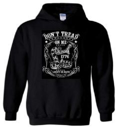 12 Units of Don't Tread On Me Liberty or Death Black Color Hoody - Mens Sweat Shirt