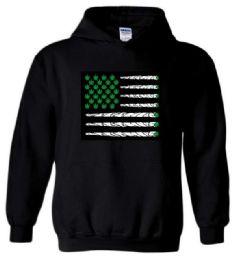 12 Units of Marijuana Flag Style Black color Hoody - Mens Sweat Shirt