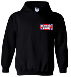 12 Units of Black Color Hoody With Small Rebel Pride Sign - Mens Sweat Shirt