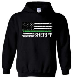 12 Units of Black Color Hoody SHERIFF FLAG - Mens Sweat Shirt