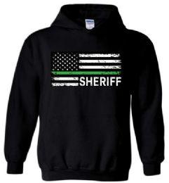 6 Units of Black Color Hoody SHERIFF FLAG Plus Size - Mens Sweat Shirt