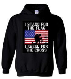 6 Units of 3XL Hoody Stand Flag Kneel Cross Hoodies - Mens Sweat Shirt