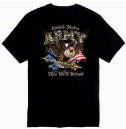 12 Units of US ARMY THIS WELL DEFEND W/CREST Plus size - Mens T-Shirts